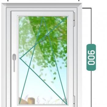 Пластиковое окно эконом 600х900мм
