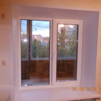 Окно пластиковое для квартиры 1300х1400