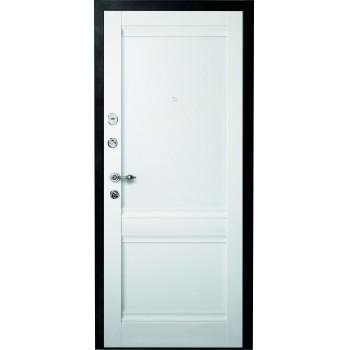 Металлическая дверь Люкс Рим Vinyl белый
